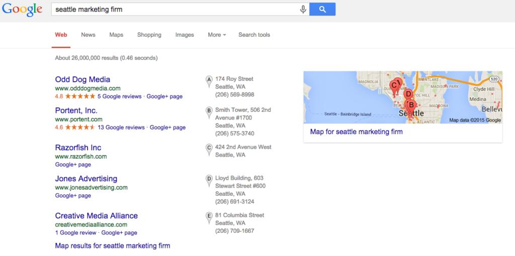 Google Search Seattle Marketing Firm