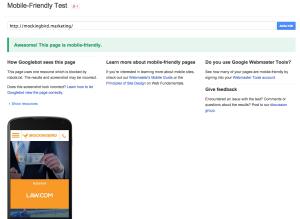 Mockingbird Google Mobile Test