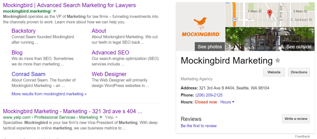 Sitelinks and knowledge graph rich snippets