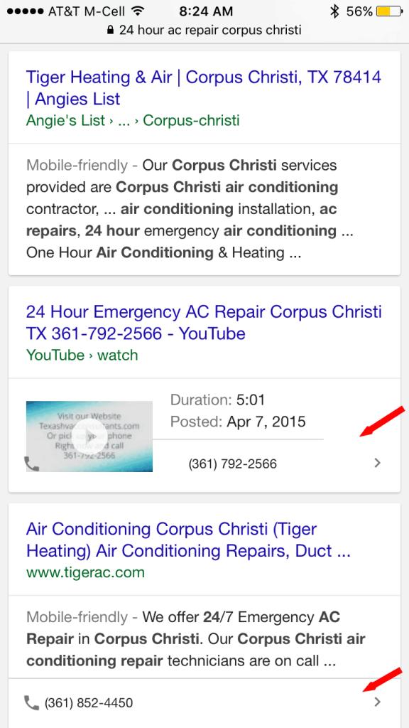 Mobile Organic Click To Call AC Repair