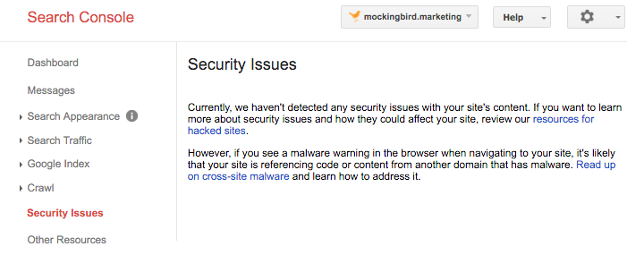security-issues-google-search-console