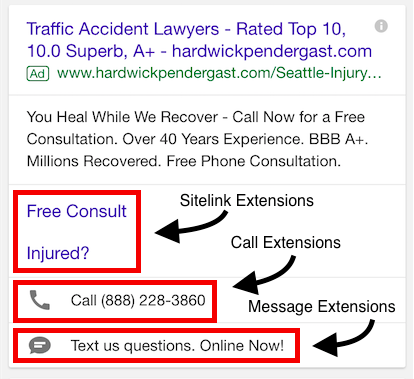 AdWords Mobile Extensions
