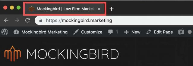 Title tag for Mockingbird website